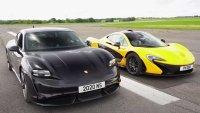 Има ли шанс Porsche Taycan срещу McLaren P1?