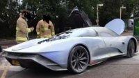 Новият модел на McLaren се запали на тестове