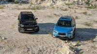 Subaru XV срещу Jeep Compass: далеч от паркета