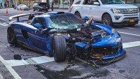 Суперкола за $780 000 бе разбита в Ню Йорк