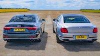 Audi S8 и Bentley Flying Spur спорят на пистата