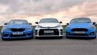 Двубой за историята - три от най-добрите коли в класовете си спорят на пистата