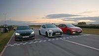 Toyota GR Yaris в битка срещу VW Golf GTI и BMW 128ti на пистата