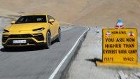 Lamborghini Urus покори най-високото автомобилно шосе в света