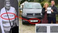 Пътна камера обърка номер с надпис на фланелка на пешеходец