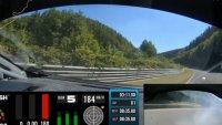 Какво е да спукаш гума с 212 км/ч