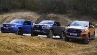 Кой е най-добър извън пътя - Ford Ranger, VW Amarok или Toyota Hilux?