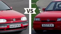 VW Golf 3 GTI срещу Opel Astra GSI: бъдещи класики?