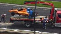 Алонсо със зрелищна катастрофа в Индианаполис (ВИДЕО)