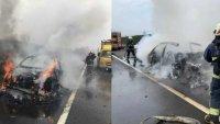 Lamborghini Urus изгоря пред очите на собственика си