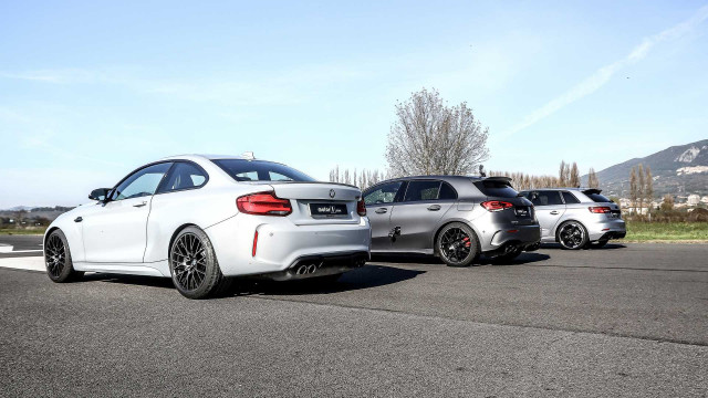 Mercedes-AMG A45 S, BMW M2 Competition и Audi RS